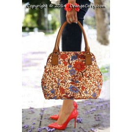 Beaded Doctor Bag - Peony Orange