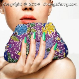 Beaded Pyramid Clutch Bag - Tulip Blossom