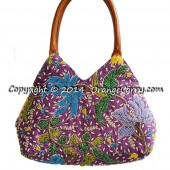 Beaded Pyramid Tote - Tulip Blossom