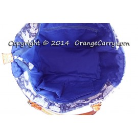 Indigo Blue Batik Beaded Tote Bag - SOLD