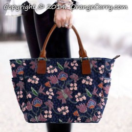 Indigo Blue Batik Beaded Tote Bag - SOLD